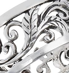 Sterling Silver Antiqued Vine Ring