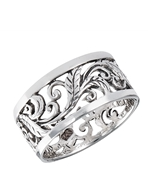 Sterling Silver Antiqued Vine Ring