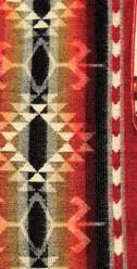 Aztec Printed Blanket Red