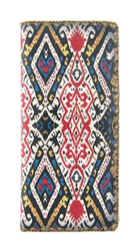 AMALIA IKAT PRINT FAUX LEATHER WALLET