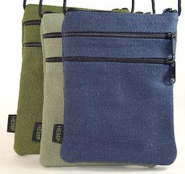 Hemp 3 zipper bag