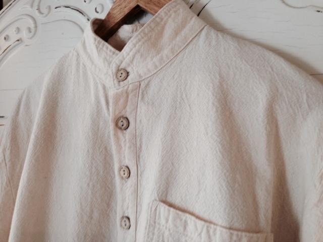 Mandarin Collar Shirt in Natural