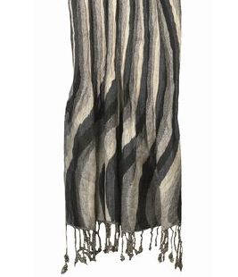 Curved Stripe Scarf