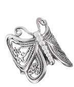 Sterling Silver Antique Butterfly Ring