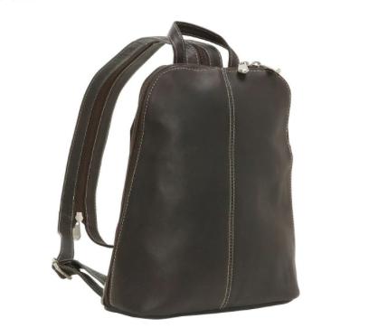 Leather U-Zip Women's Sling/Back Pack Cafe
