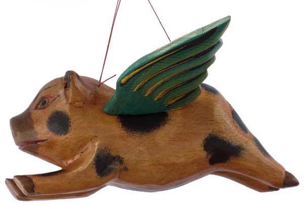 "Flying Wood Pig 8"""