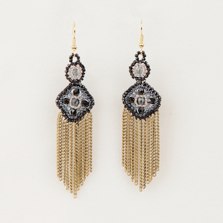 Crystal Fringe Earrings