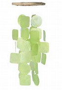 Green Capiz Shell Wind Chime