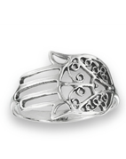 STERLING SILVER HAND OF FATIMA RING