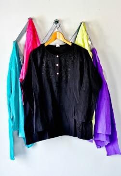 Crepe Cotton Kurta blouse in Black