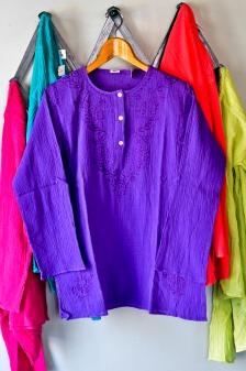 Crepe Cotton Kurta blouse in Grape