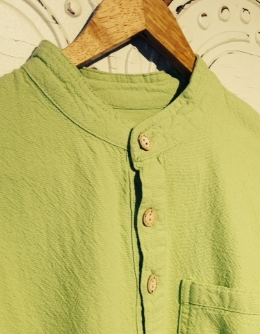 Mandarin Collar Shirt in Margarita