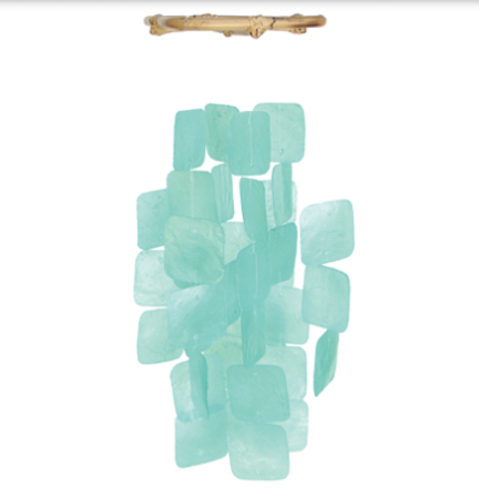 Teal Capiz Shell Wind Chime