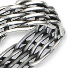 Sterling Silver Handmade Weave Ring