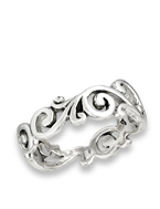 Sterling Silver Weave Swirl Ring