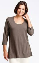3/4 Sleeve Flax Barn Tunic