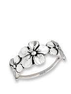 Sterling Silver Triple Flower Ring