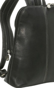 Leather U-Zip Women's Sling/Back Pack Black