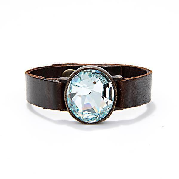 Bracelet Vintage Brown With Aqua