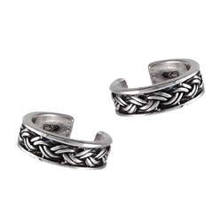 Silver Braided Bali Ear Cuff