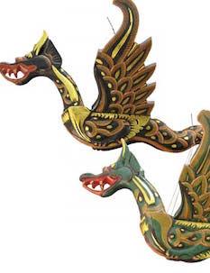 "Flying Wood Dragon 20"""