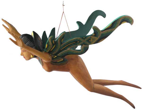 Flying Wood Woman