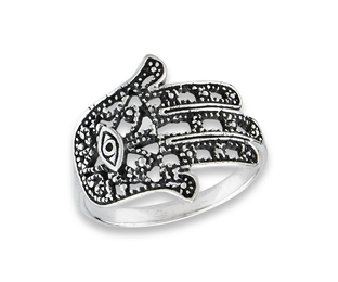 Sterling Silver Hand Of Fatima Ring 2