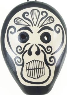 Large Tatoo Skull Ocarina