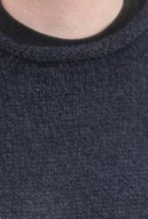 Navy Alpaca Knit Roll Neck Sweater