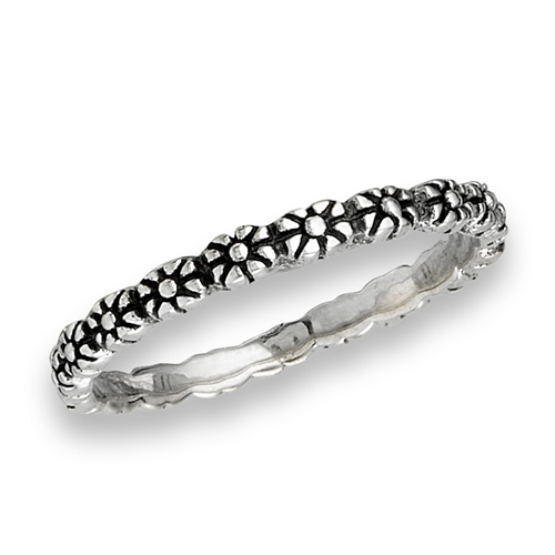 Sterling Silver Baby Flower Ring