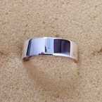 Sterling Silver High Polish Heavy Flat Wedding Band