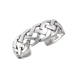 Sterling Silver Weave Toe Ring