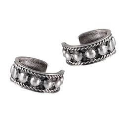 Sterling Silver Bali Style Ear Cuff