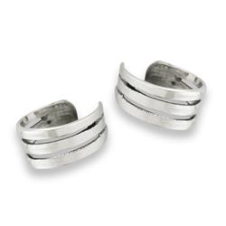 Sterling Silver High Polish Triple-Band Ear Cuff
