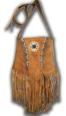 Shoulder Bag with sand beads
