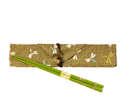 Eco-friendly chopsticks - Green Dragonfly