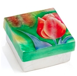 CAPIZ SHELL BOX TULIP