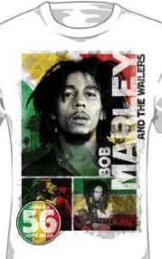 Bob Marley - 56 Hope Road Rasta Mens T-Shirt In White
