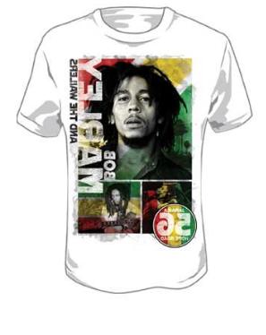 Bob Marley - 56 Hope Road Rasta Mens T-Shirt In White