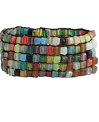 Multi Colored Square Bead Mosaic Bracelet