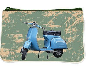 Coin Purse Blue Scooter