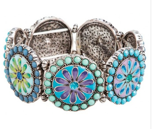 Blue Crystal Flower Bracelet