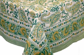 """Table Cloth  Rajasthan Paisley  72"""" Round"""