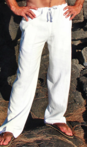 White Linen Riviera Pant