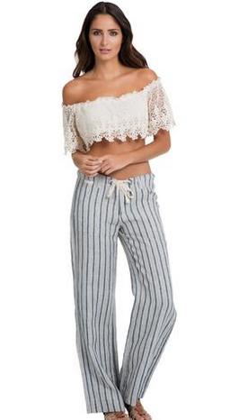 Pants Drawstring Stripe
