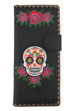 Sugar Skull Black Wallet