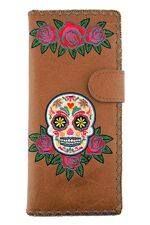 Sugar Skull Brown Wallet