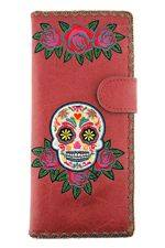 Sugar Skull Red Wallet