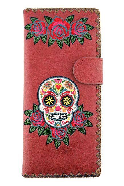 Sugar Skull Red Wallet