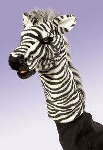 Zebra Stage Puppets